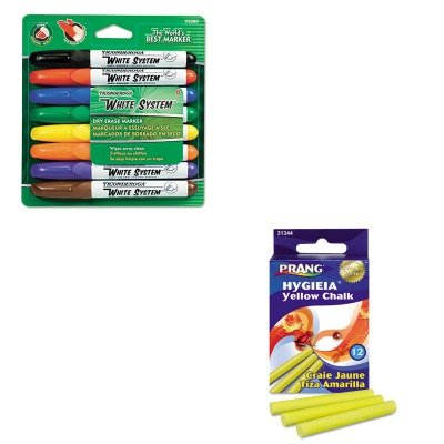 (KITDIX31344DIX92080 - Value Kit - Prang Hygieia Dustless Board Chalk (DIX31344) and Ticonderoga White System Dry Erase Marker (DIX92080))