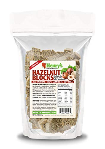 Henry's Hazelnut Blocks - The Only Food for Squirrels, Flyers, Rats and Mice Baked Fresh to Order, 11 Ounces