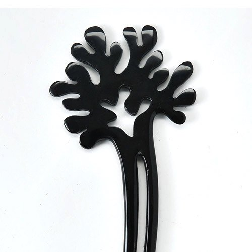 Coral Horn (Marycrafts Black Coral Decoration Buffalo Horn Hair Fork, Hairfork, Hair Pin, Hairpin, Hair Accessory, Hair Toy Handmade 5.71