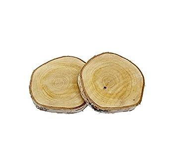 Holz Birke 4 stk birkenscheiben 12cm rund baumscheiben holz scheiben birke