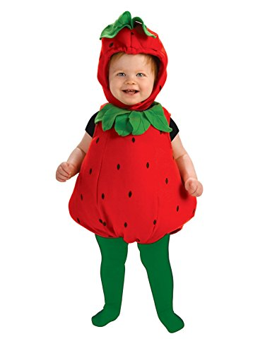 Rubie's Newborn Deluxe Berry Cute Costume, Red/Green, - Costume Strawberry Halloween