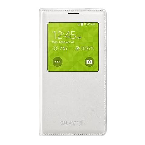 Samsung Galaxy S5 Case S View Flip Cover Folio, White (Flip Cover Cases For Galaxy S5)