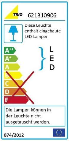 Trio-Leuchten LED-Deckenleuchte in chrom, Glas weiß satiniert/Rand klar, inklusiv 9x 3W LED, Maße: 45 x 45 cm 621310906