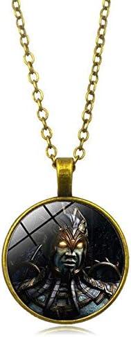 FUKAI Nuevo Juego De Tecnología De Lucha De Moda Simple Collares YJuegos De Lucha Vintage Mortal Kombat Dragon Jane Empire Gran Collar Película Joyería