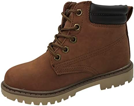 97fcc156a05 Classic Work Boots Lace-Up Ankle High Top Brown, 11: Amazon.com ...