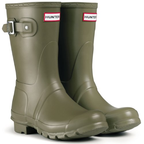 Womens Hunter Original Tall Winter Rain Festival Snow Wellington Boots - Hunter Green - 10