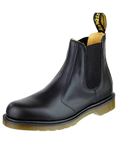Dr. Martens Mens B8250 Slip On Dealer Leather Upper Boots Elastic secure fit nero
