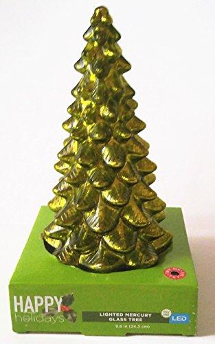 Cvs Christmas Lights.Amazon Com Happy Holidays Lighted Glass Christmas Tree