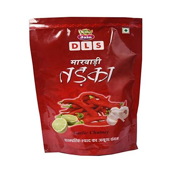 Jain DLS Garlic Chutney Marwadi Tadka Pickle (Marwadi Tadka Achaar) 400g