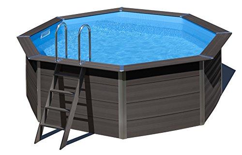 Gre kpco41 Framed Pool Octagonal Blue, Brown Above Ground Pool – Above Ground Pools (Framed Pool, Octagonal, Blue, Brown, Steel, 3 Person (s), 3000 l/h)