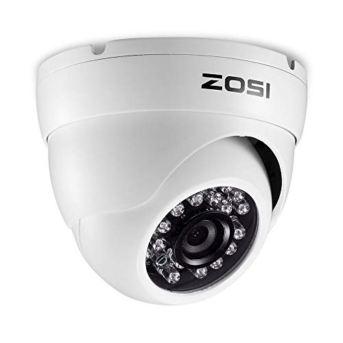 ZOSI 2.0MP HD 1080P 1920TVL Hybrid 4-in-1 TVI CVI AHD 960H CVBS CCTV Camera 24PCS IR-LEDs Home Security Indoor Outdoor 65ft Day Night Vision Aluminum Metal Housing Camera for Analog DVR White