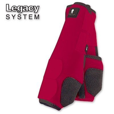 Classic Rope Company Legacy System Front Splint Boots L Red by CLASSIC (Image #1)