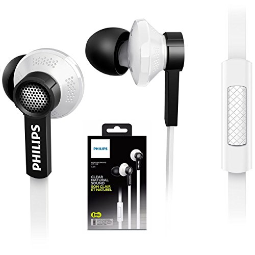 Philips Tx1wt Noise-isolating In-ear Headphones Built-in Microphone Tx1 White