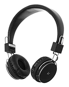 KitSound KSMHDTBK KitSound Manhattan Bluetooth Over-Ear Headphones with Mic Compatible with Smartphones, Tablets and MP3 Devices - Black