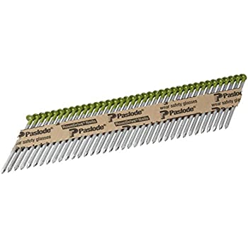 paslode 650383 round head 2 38 inch by 113 inch by 30 degree paper collated ring shank hot dipped galvanized framing nail 2000 per box