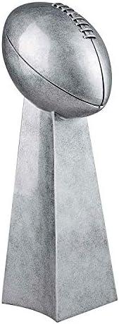 Decade Awards Silver Football Tower Trophy - Fantasy Football FFL - 2 Sizes