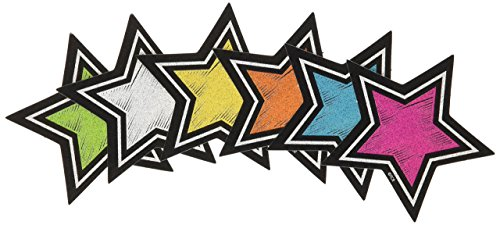 - Teacher Created Resources (3554) Chalkboard Brights Stars Mini Accents
