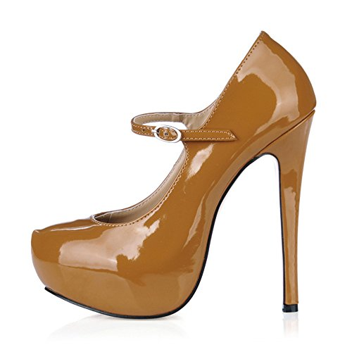 The spring of the fine high-heel shoes for larger water increased desktop sexy nightclubs temperament and shoes Coffee Pearl sEiuV7