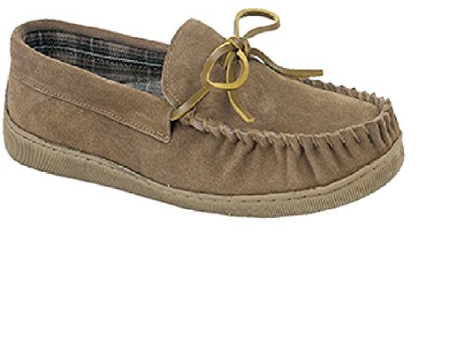 Moccasin 11 Leather Sand Slip UK Mens Brown Size Shoes 6 Slippers On vEZHn5wgqx