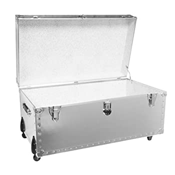 DormCo Smooth Steel Standard Size Trunk - USA Made