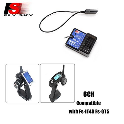 Flysky FS-GT5 6CH AFHDS RC Transmitter w/ FS-BS6 Receiver for RC Car