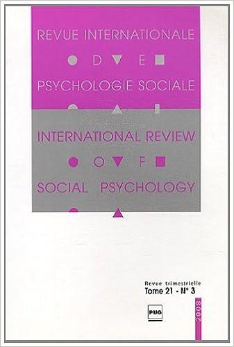 Revue Internationale de Psychologie Sociale, N° 21-3 : pdf epub