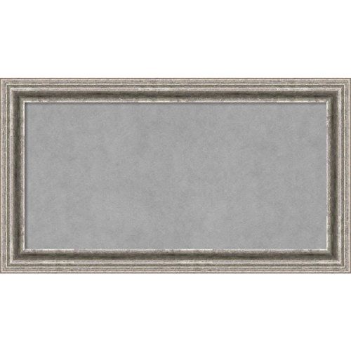Amanti Art Bel Volto Silver: Outer Size 27 x 15'' Framed Magnetic Board, Medium by Amanti Art