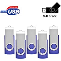 4GB USB Flash Drive 5 Pack, USB2.0 Memory stick Fold...