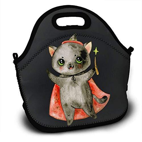 Halloween Portable Lunch Tote Bags, Takeaway Lunch Box, Outdoor Travel Fashionable Handbag for Men Women Kids Girls ()