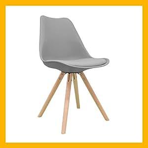 Regalosmiguel silla n rdica silla scandi gris silla nordic escandinava inspirada en silla - Silla eames amazon ...