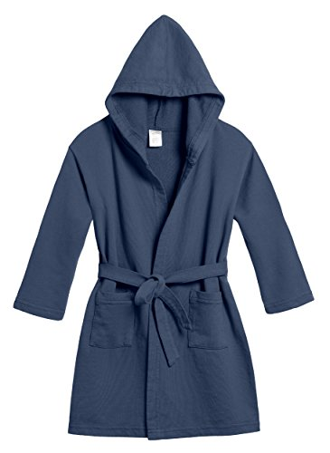 City Threads Girls' and Boys' Cotton Pool & Beach Robe Cover Up, Midnight Blue, 14