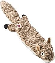 Brinquedo de cachorro acolchoado sem enchimento extremo Skinneeez Esquilo de animais de estimação éticos SPOT,