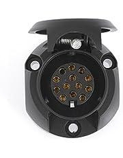 Dino 130080 12V Conector hembra para remolque, 13 polos, ISO 11446