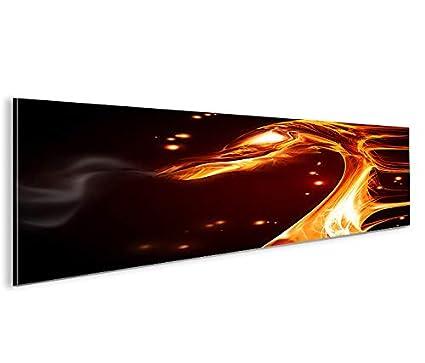 Quadro moderno Fire Dragon Panorama Impresión sobre lienzo ...