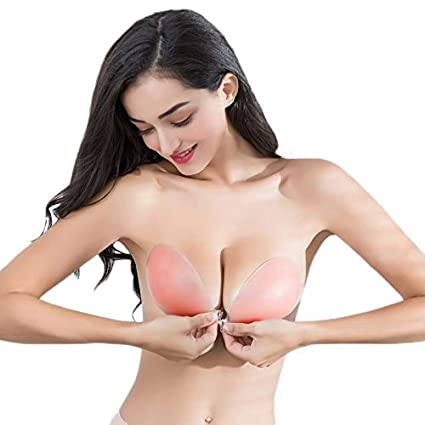 2f10efd829a91 Image Unavailable. Image not available for. Color  Love Environment Silicone  Bra Self-Adhesive Stick On Gel Push Up Strapless Backless Invisible Bras