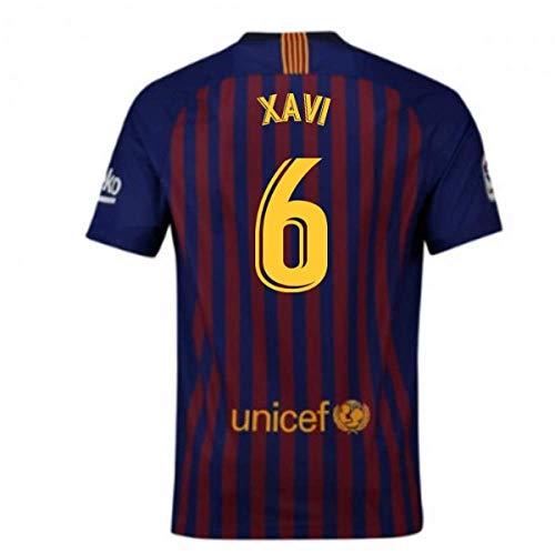 c34d4ac28 2018-2019 Barcelona Home Nike Football Soccer T-Shirt Jersey (Xavi 6)