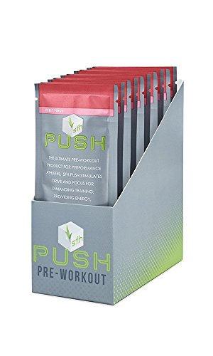 PUSH Pre-Workout Powder (Fruit Punch) by SFH | Best Tasting 5g BCAA's for Muscle Repair | Non-Dairy, No Artificial Flavors, Colors, or Sweeteners (Fruit Punch, Single (Artificial Single Star)