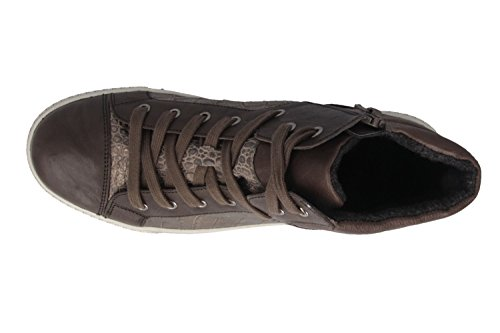 GABOR-femme-marron-chaussures top high sneaker en matelas grande taille