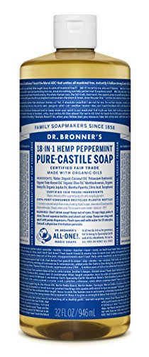 Dr. Bronner's Pure Liquid Castile Soap - Peppermint 32oz.
