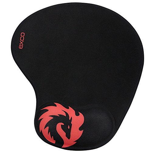 Red-Tame-Dragon-EXCO-Mousepad-with-Soft-Comfort-Silica-Gel-Wrist-Support-Non-Slip-PU-Base-Smooth-Surface-Gaming-Wrist-Support-Mouse-Pad-Fit-for-Computers-and-Laptops
