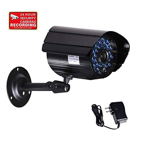 VideoSecu IR Infrared Bullet Security Camera Day Night Vision Home Outdoor CCTV Surveillance 520TVL IR-Cut Filter Switch with Power Supply and Bonus Security Warning Sticker AB1