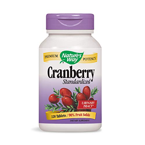 Nature's Way Premium Potency Standardized Cranberry 90% Fruit Solids, 120 Count (Packaging May Vary)