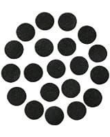 "Black Adhesive Felt Circles; Package of 48, 1.5"" Wide, Die Cut; DIY Projects"