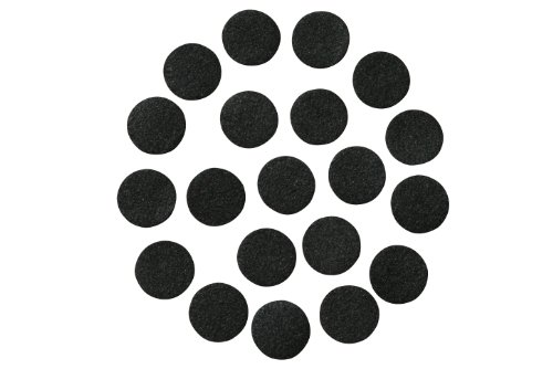 Assorted Sizes Set of Black Adhesive Felt Circles; Wholesale, Die Cut; DIY Projects (96 Count: 48x 1'' & 48x 1.5'', Black) by This Season's Colors Supplies & Accessories Inc.