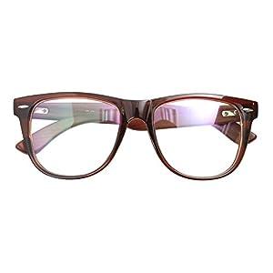 Real Bamboo Wood Temples Eyeglasses Frames Men Women Retro Spectacle Wooden Arm Foot Eyewear (BROWN 10415)