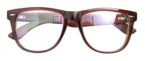 Real Bamboo Wood Temples Eyeglasses Frames Men Women Retro Spectacle Wooden Arm Foot Eyewear (BROWN - Frames Spectacle Fashion