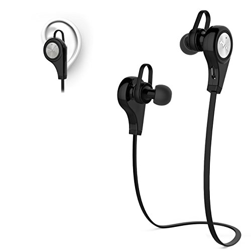 Aibileec Activate Sport Wireless Bluetooth Earphone in-Ear with mic (Black) ()