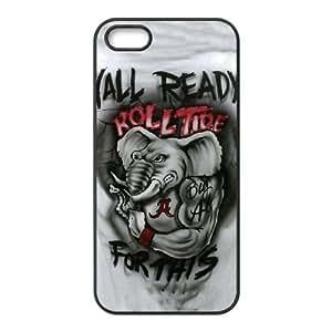 Alabama Crimson Tide iPhone5s Cell Phone Case Black PQN6053055392679