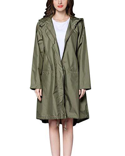 Imperméable Couleurs Des Armee Léger Fête De Solides Extérieur Avec Femmes Manteau Tranchée grün Style IxrBwI6q