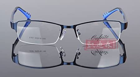 1756fc763ce8 Blue TR90 Men s Sports Fashion Half rimless Eyeglass Frames Optical Eyewear  Rx 2387  Amazon.co.uk  Sports   Outdoors